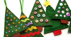 Time for another festive tutorial: how to make simple felt Christmas tree decorations.        These ornaments are quick and easy to sew...