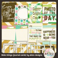 Freebie - Little Things Journal Card
