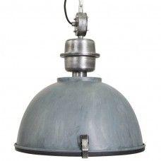 Hanglamp Gospodin grijs met staal