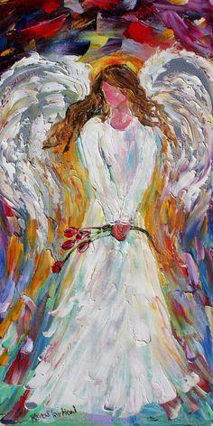 Fine Art Print Angel made from image of oil von Karensfineart