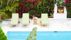 The Pool | Hot Caribbean color might be the ultimate house makeover hack: Designer Amanda Lindroth transforms a 1970s Lyford Cay home with vivid island hues and gutsy decorating moves.