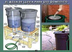 Reutilizando el agua de lluvia