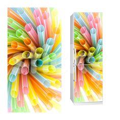 Fabric Fridge sticker STRAWS by Sticky!!!
