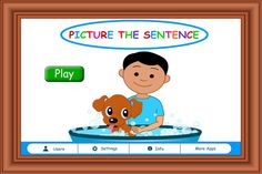 Picture the Sentence iPhone and iPad app by Hamaguchi Apps for Speech, Language