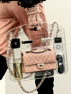 Chanel-tastic see through totes