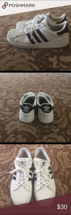 Adidas sneaker Black and white adidas shoes. Good condition. Adidas Shoes Sneakers