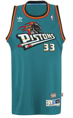 b88b7ad6e30 Grant Hill Detroit Pistons Adidas NBA Throwback Swingman Jersey - Teal  Basketball Jersey