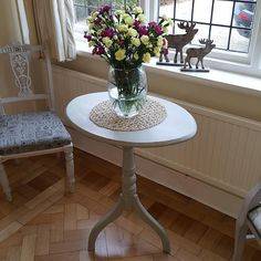 Antique table in distressed French Gray...
