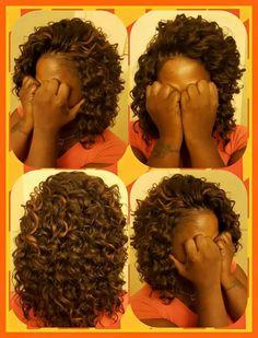 Crochet Braids using Ripple Deep Hair by Kima - crochet hair styles - Arvina Curly Crochet Hair Styles, Crochet Braid Styles, Crotchet Styles, My Hairstyle, Braided Hairstyles, Crocheted Hairstyles, Short Crochet Braids Hairstyles, Curly Braids, Kima Crochet Hair