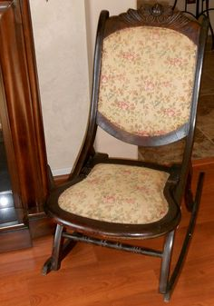 Antique Rocking Chair Late 1800's Victorian Sewing Chair, Furniture, Vintage…