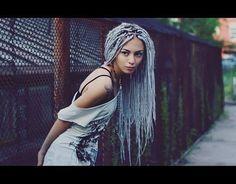 grey box braids - Google Search