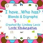 This is the I have...Who has? game for blends and digraphs. There are 25 blends and digraphs used. This game has 25 game cards, so there is enough ...