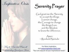 Poster - Serenity Prayer - Free When You Signup for my Ezine at   http://www.inspiration-oasis.com/free-inspirational-posters.html