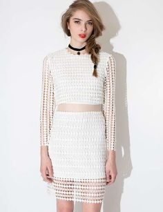 Amata White Lace Dress $118 #4waystowearlace