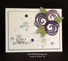 Stampin Up Swirly Scribbles notecard ideas - Rosanne Mulhern stampin up Pretty Cards, Cute Cards, Cards Diy, Paper Cards, Su Swirly Scribbles, Stampin Up Anleitung, Stampin Pretty, Stamping Up Cards, Rubber Stamping