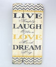 Look at this 'Live' Wood Extra-Large Wall Plaque on #zulily today!