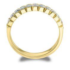 Amore 14k White or Yellow Gold 2ct TDW Diamond Wedding Band (H-I, I1-I2) (Yellow Gold - 9.5), Women's