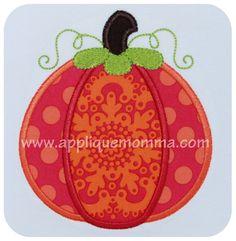 Pumpkin13 Applique Design