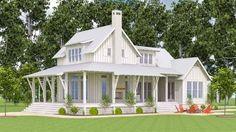 Exclusive 3-Bed Farmhouse with Expansive Porches - 130001LLS | Architectural Designs - House Plans