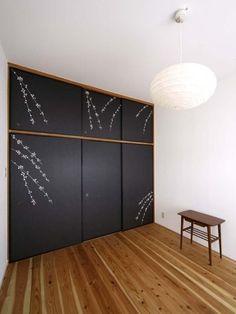 R.504 renov. (寝室) #和室じゃないけど壁紙がいい。