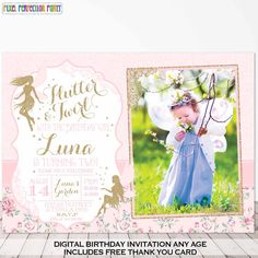 Hey, I found this really awesome Etsy listing at https://www.etsy.com/listing/240158319/fairy-princess-invitation-fairy-birthday