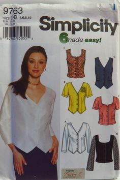 Simplicity 9763 Misses' and Miss Petite Blouse