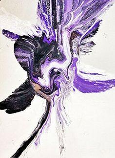 Abstract Purple Flamingo