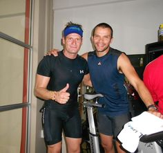 Francesco and Warren, two spinning instructors at Virgin Active. This was taken at our Spinathon for rhinos at Old Eds.  Buy RHINO FORCE bracelets www.beadcoalition.com Spin Instructor, Rhinos, Brand Building, Fundraisers, Fun Things, Spinning, Events, Bracelets, Hand Spinning