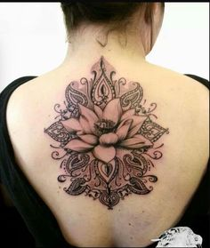 Back lotus tattoo