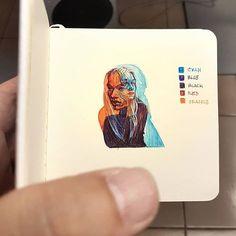 Sketchbook Drawing New sketchbook.in color - Head study 18 and - Art Sketches, Art Drawings, Art Du Croquis, Art Et Design, Drawn Art, Poster Art, Arte Sketchbook, Small Sketchbook, Art Hoe