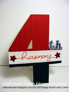 Happy Fourth by heather freeman - Cards and Paper Crafts at Splitcoaststampers