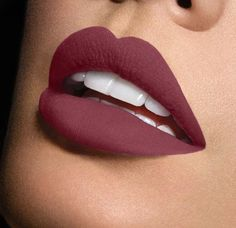 10 Gorgeous Matte Lip Looks: #10. Deep Burgundy #makeupideasformal