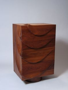 Fine Woodworking magazine, walnut Chest of Drawers by David Hurwitz, award winning Vermont furniture maker.  Carved, walnut, ash, modern, contemporary, handmade, sculptural, hand made, hand crafted, custom design, modern design, contemporary design, one of a kind, bespoke, made in Vermont, made in USA