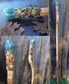 Mookaite Citrine Garnet Wand by KaijuClayCreations on DeviantArt Jasper Stone, Clay Creations, Deities, Witchcraft, Wands, Wind Chimes, Garnet, Deviantart, Crystals