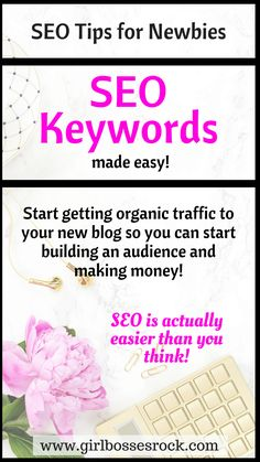 Are you a blogging newbie and struggling to get organic traffic to your site? You probably aren't using the right SEO keywords for your blog posts! Here are some simple ways to boost your traffic with SEO. #SEO #bloggingtips #newblogger #blogtraffic