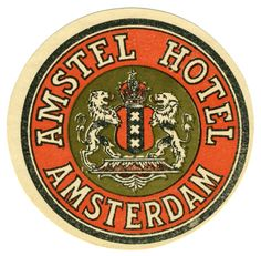 Artist Unknown poster: Amstel Hotel - Amsterdam (Luggage Label)