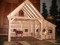 Custom Made Wooden Toy Barn Horse Stables, Horse Barns, Horses, Wooden Toy Barn, Barn Wood, Popsicle Stick Crafts, Craft Stick Crafts, Kids Barn, Diy Resin Crafts