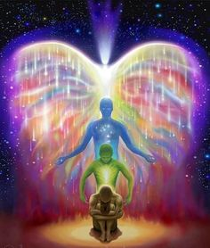 [soul] There are many layers of ourselves that are within unity consciousness, we are the light and always have been. We are whole, we are divine and infinite, don't be fooled by the illusions of this earthly life. Chakras, Art Visionnaire, Psy Art, Visionary Art, Spiritual Inspiration, Spiritual Growth, Spiritual Awareness, Spiritual Path, Spiritual Guidance