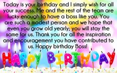 40 best birthday wishes and greeting for boss images on pinterest in happy birthday wishes for boss boss birthday quotes birthday wishes for boss birthday wishes m4hsunfo