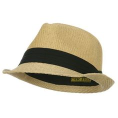 Over Size Fedora Hat - Natural Black Band cause my hair is going to be huge in jamaica