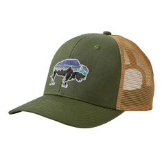 Fitz Roy Bison Trucker Hat, Buffalo Green (BUFG)