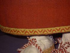 """Perniön muinaispuku. Helmanauha"" © Marianne Huttunen, Laura Kylliäinen, Liisa Ojala, Pirjo Sinervo (quote) via teeitse.vanha.punomo.fi Reconstruction of  Finnish iron/viking age dress from Perniö. Detail of the hem."