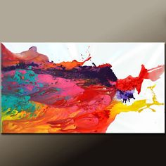 Abstract Canvas Art Painting HUGE 60x30 Contemporary by wostudios, $249.00