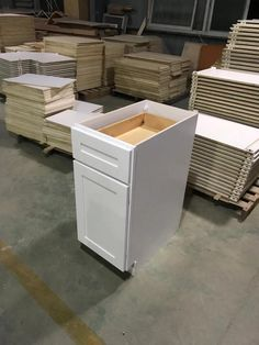 White Shaker Cabinets, Filing Cabinet, Storage, Furniture, Home Decor, White Cupboards, Homemade Home Decor, Binder, Larger