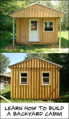 Wouldn't it be Great to Have Your Own Cabin Right in Your Backyard? Why not Build Your Own