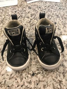 b8842a27d618be Leather Converse High Tops Size 5 Kids  fashion  clothing  shoes   accessories  kidsclothingshoesaccs  unisexshoes  ad (ebay link)