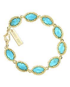 Jana Bracelet in Turquoise - Kendra Scott Jewelry. #KSadventure #KendraScott