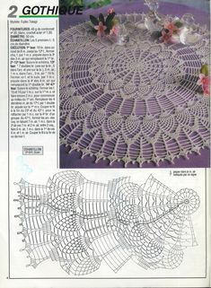 Crochet Doily Which Would Make Crochet Table Topper, Crochet Tablecloth Pattern, Free Crochet Doily Patterns, Crochet Doily Diagram, Crochet Chart, Thread Crochet, Diy Crochet, Crochet Doilies, Crochet Coaster