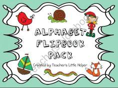 Alphabet Flipbook Pack from Teachers Little Helper on TeachersNotebook.com (55 pages)