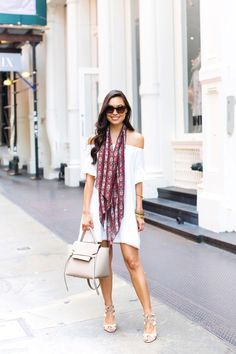 Summery Off The Shoulder Dress | With Love From Kat